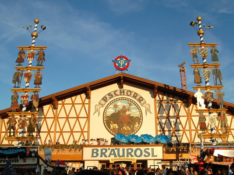 Biertent Oktoberfest Braeurosl Pschorr Festhalle