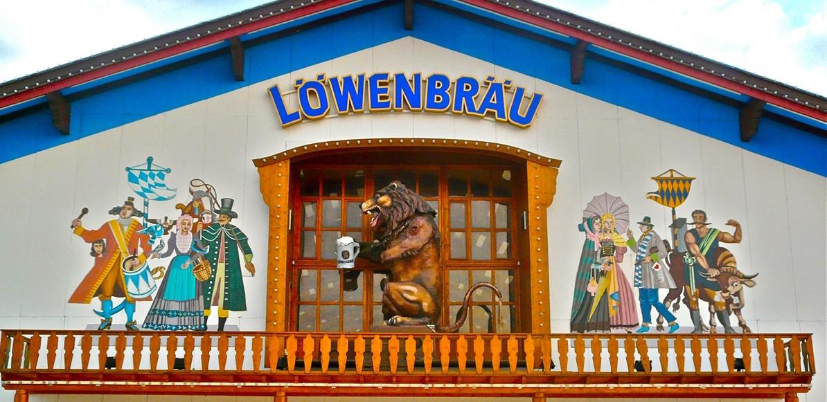 Biertent Oktoberfest Löwenbräu Festhalle