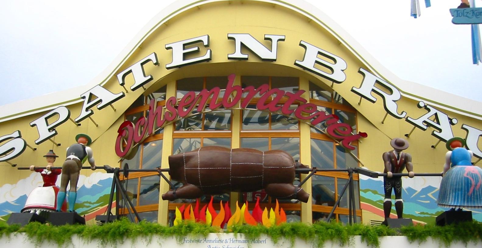 Biertent Oktoberfest Ochsenbraterei Spatenbräu